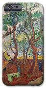 The Garden Of St Pauls Hospital At St. Remy IPhone Case by Vincent Van Gogh