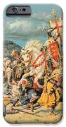 The Mighty King Of Chivalry Richard The Lionheart IPhone Case by Fortunino Matania