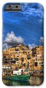the old Jaffa port IPhone Case by Ron Shoshani