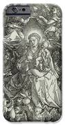 The Virgin And Child Surrounded By Angels IPhone Case by Albrecht Durer or Duerer