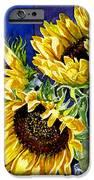 Three Sunny Flowers IPhone Case by Irina Sztukowski