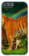 Tiger Love Tropical IPhone Case by Alixandra Mullins