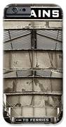 To Trains IPhone Case by John Rizzuto
