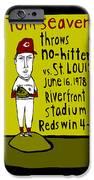 Tom Seaver Cincinnati Reds IPhone Case by Jay Perkins