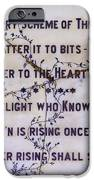 Two Poems On Marble IPhone Case by Moira Rowe