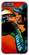 Valentino Rossi Portrait IPhone Case by Paul Meijering
