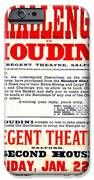 Vintage Challenge Houdini Poster IPhone Case by Wingsdomain Art and Photography