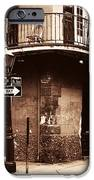 Vintage French Quarter IPhone Case by John Rizzuto
