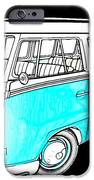 Volkswagen Turquoise IPhone Case by Cheryl Young