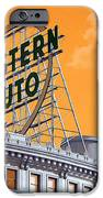 Western Auto Sign Artistic Sky IPhone Case by Andee Design