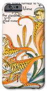 When Lilies Turned To Tiger Blaze IPhone Case by Walter Crane