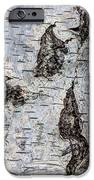 White Birch Abstract  IPhone Case by Heidi Smith