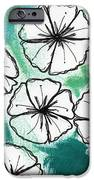 White Petunias- Floral Abstract Painting IPhone Case by Linda Woods