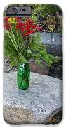 Wine And Red Flowers On The Rocks IPhone Case by Les Palenik