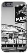 Wrigley Field And Wrigleyville Signs In Black And White IPhone Case by Paul Velgos