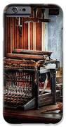 Writer - Typewriter - The Aspiring Writer IPhone Case by Mike Savad