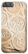 writing on the Tibetan language and Sanskrit at stone IPhone Case by Raimond Klavins