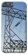 Electricity Pylons Against A Clear Blue IPhone Case by Iain  Sarjeant