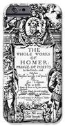 Homer Title Page, 1616 IPhone 6s Case by Granger