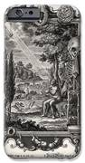 1731 Johann Scheuchzer Creation Of Man IPhone Case by Paul D Stewart
