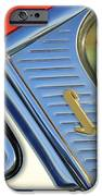 1955 Lincoln Capri Emblem IPhone Case by Jill Reger