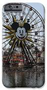 Ferris Wheel And Roller Coaster - Paradise Pier - Disney California Adventure - Anaheim California - IPhone Case by Wingsdomain Art and Photography