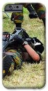 Soldiers Of A Belgian Infantry Unit IPhone Case by Luc De Jaeger