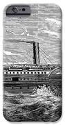 4 Wheel Steamship, 1867 IPhone Case by Granger