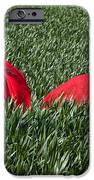 Woman In Red Series IPhone Case by Cindy Singleton