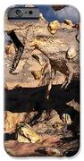 A Fossilized T. Rex Bursts To Life IPhone Case by Mark Stevenson