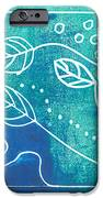 Abstract Block Print In Blue IPhone Case by Ann Powell