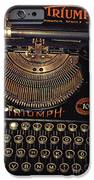 Antiquated Typewriter IPhone Case by Jutta Maria Pusl