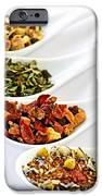 Assorted Herbal Wellness Dry Tea In Spoons IPhone Case by Elena Elisseeva