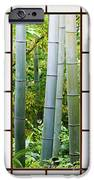 Bamboo Forest Through A Rice Paper Window IPhone Case by Jeremy Woodhouse
