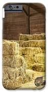 Barn With Hay Bales IPhone Case by Elena Elisseeva