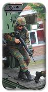 Belgian Infantry Soldiers Exit IPhone Case by Luc De Jaeger