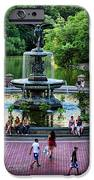Bethesda Fountain Overlooking Central Park Pond IPhone Case by Paul Ward