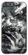 Black And White Image Of Earth IPhone Case by Stocktrek Images