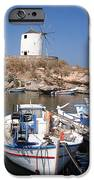 Boats And Windmill IPhone Case by Jane Rix