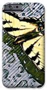 Butterfly In Rain IPhone Case by Susan Leggett