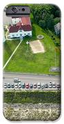 Cars Line Up At The Parking Lot At Chatham Lighthouse And Chatha IPhone Case by Matt Suess