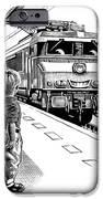 Child Train Safety, Artwork IPhone Case by Bill Sanderson