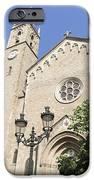 Church Parroquia De La Purissima Concepcio Barcelona Spain IPhone Case by Matthias Hauser