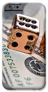 Copper Dice And Money IPhone Case by Susan Leggett