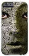 Creepy Cracked Face With Tears IPhone Case by Jill Battaglia