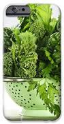 Dark Green Leafy Vegetables In Colander IPhone Case by Elena Elisseeva