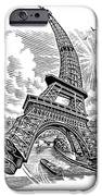 Eiffel Tower, Conceptual Artwork IPhone Case by Bill Sanderson