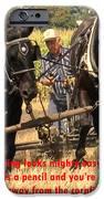 Farming Looks Easy IPhone Case by Ian  MacDonald