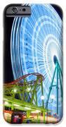 Ferris Wheel At Night IPhone Case by Stelios Kleanthous