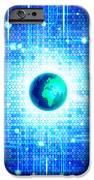 Globe With Technology Background IPhone Case by Setsiri Silapasuwanchai